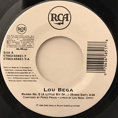 LOU BEGA:MAMBO NO.5(LABEL SIDE-A)