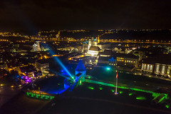 Kaunas at night | Aerial