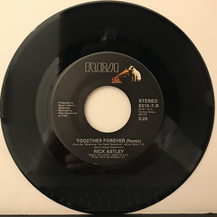 RICK ASTLEY:TOGETHER FOREVER(REMIX)(RECORD SIDE-A)
