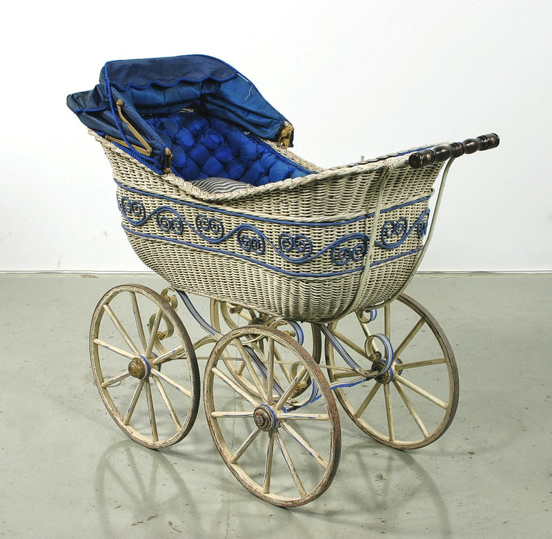 Pram design in manufacture from around 1858 - 1907. Credit Livrustkammaren (The Royal Armoury), Samuel Uhrdin
