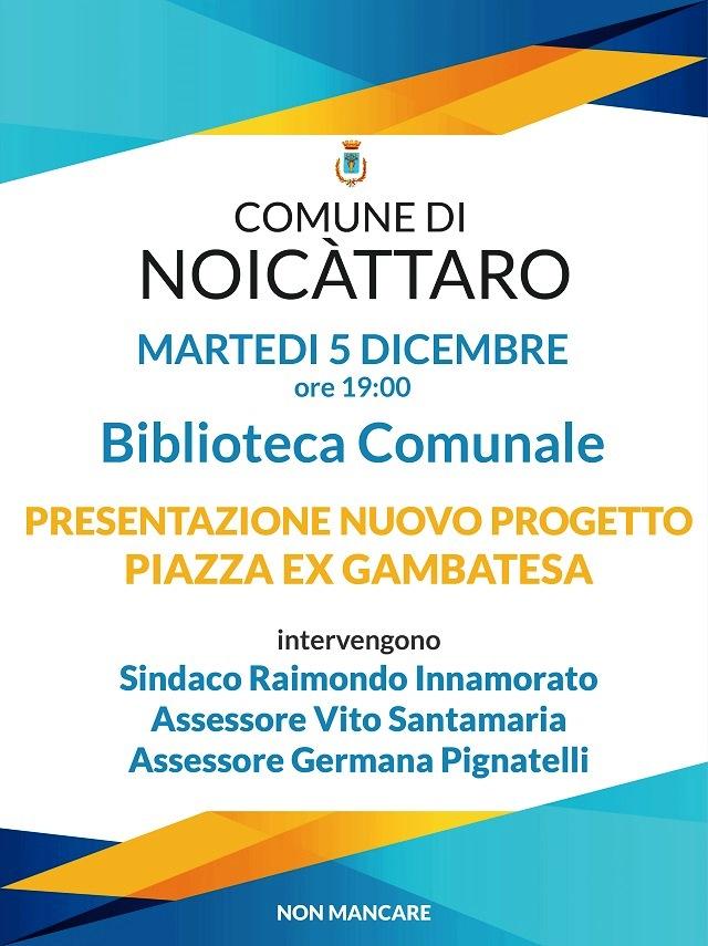 Noicattaro. Presentazione progetto piazza Ex Gambatesa intero