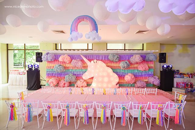 unicorn theme party stage