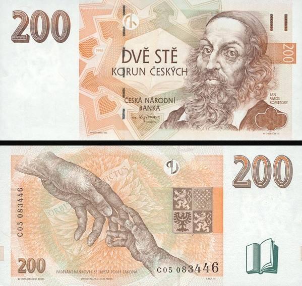 200 Korun Česko 1998