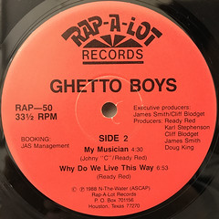 GHETTO BOYS:BE DOWN(LABEL SIDE-B)