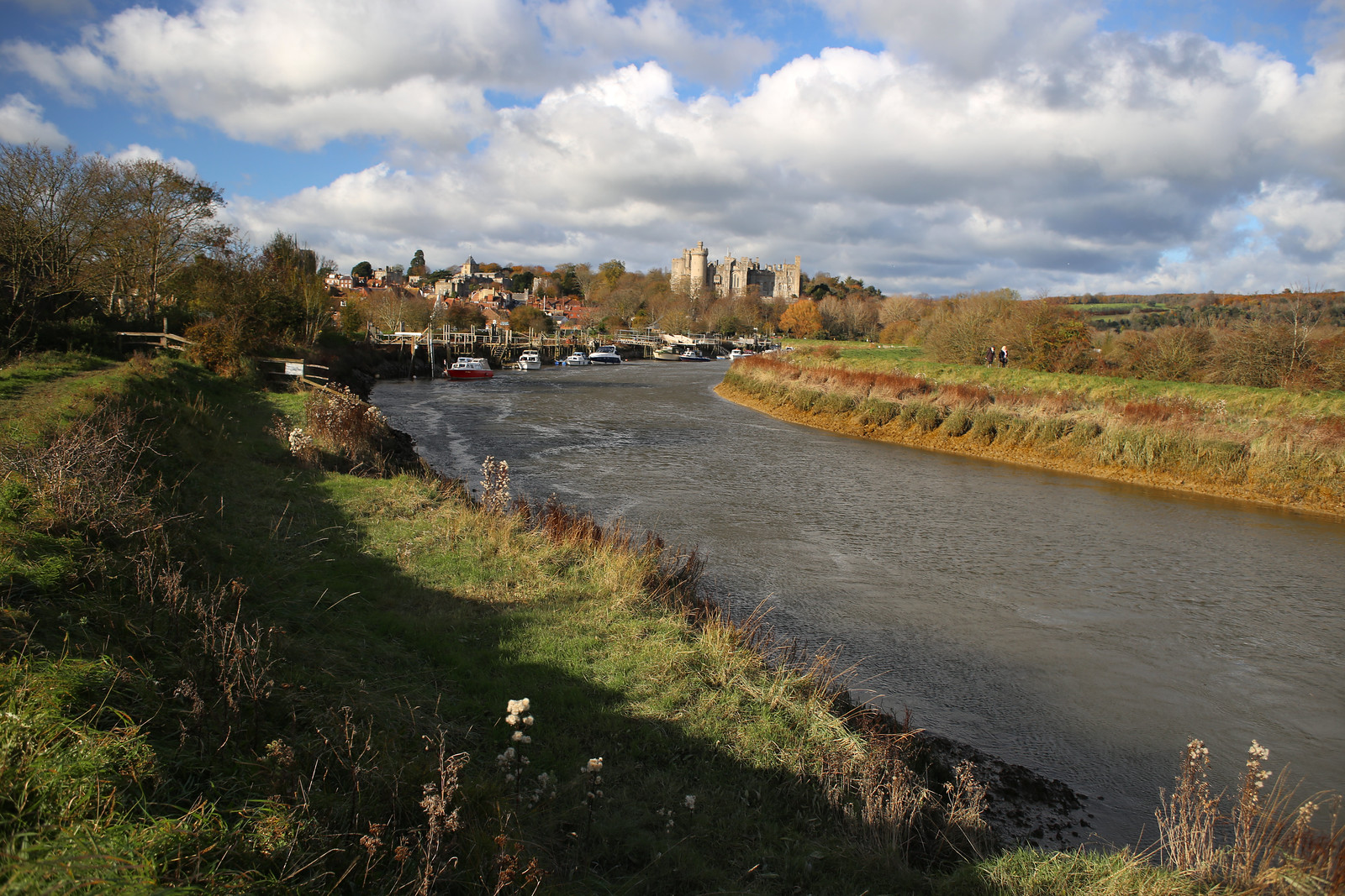The River Arun, Arundel With Arundel castle visible ahead