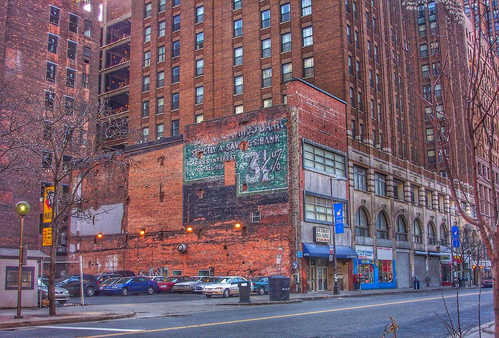 Detroit Michigan...Old Ghost Sign ~ On Pizza Factory Build ...