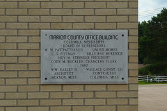 Marion County Office Building Plaque