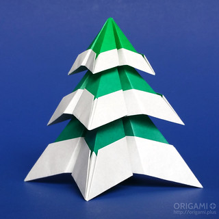 New Christmas Tree with Snow origami model