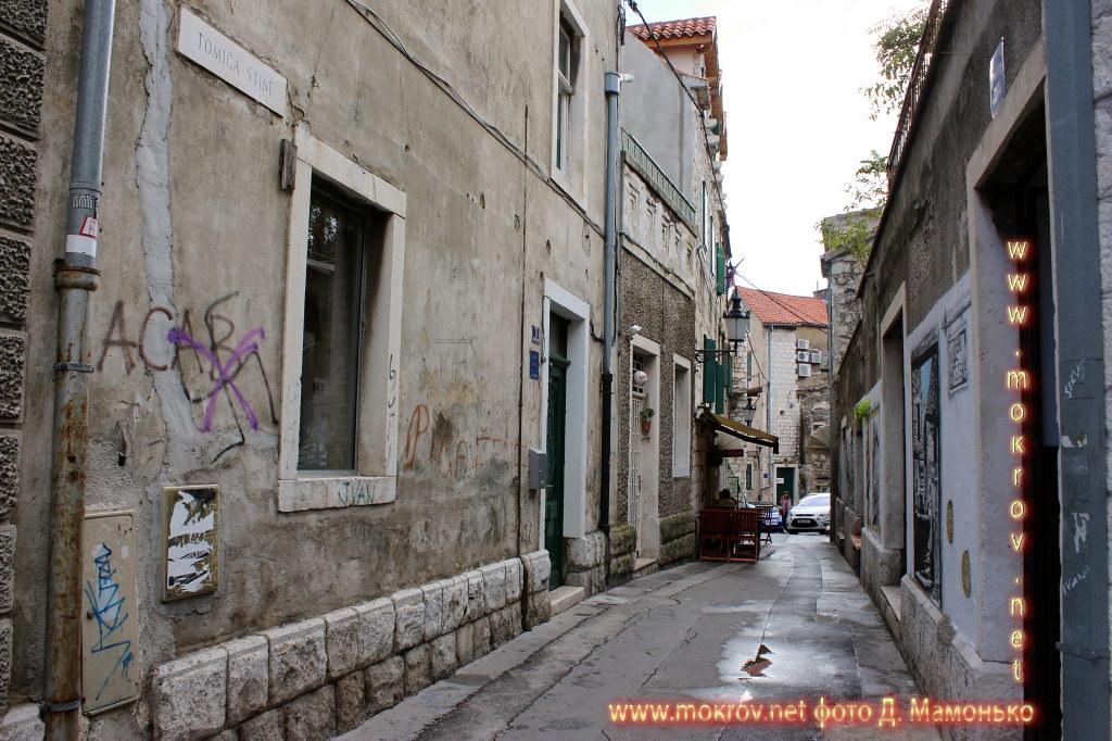 Исторический центр Сплит — город в Хорватии фотозарисовки
