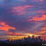 20. November 2017 - 17:50 - The sky was on fire last night in Downtown Minneapolis, MN, USA. 2017