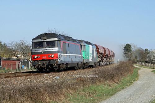 22 mars 2010 BB 67412-67486 Train 74455 Thiviers -> Langon St Médard-de-Guizières (33)