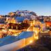 Santorini skyline night by BestCityscape