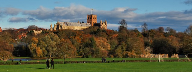 The View from Ancient Verulamium - St Albans, Hertfordshire, England ..