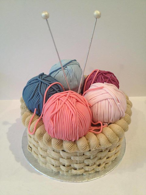 Knitting Basket Cake by Alex's Cakes