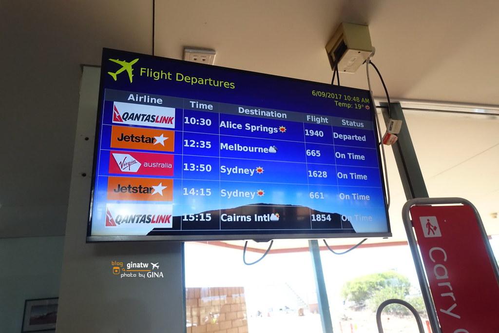 Uluru烏魯魯機場=艾爾斯岩機場(Ayers Rock Airport)》烏魯魯機票比價 訂票教學 去烏魯魯玩前必知機場免費接送 + 澳洲境內各地飛烏魯魯訂機票大解析 Jetstar捷星航空境內手提限制及行李公斤數價格 @Gina Lin