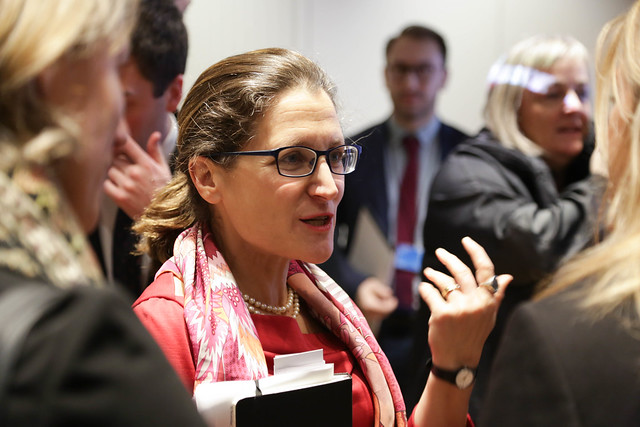 Women, Peace and Security: A Conversation with Canada's MFA Chrystia Freeland, Gottemoeller, Schmid, and Gimson