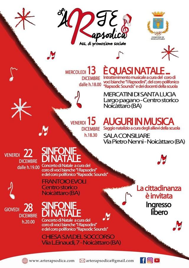 Noicattaro. Eventi L'Arte Rapsodica intero