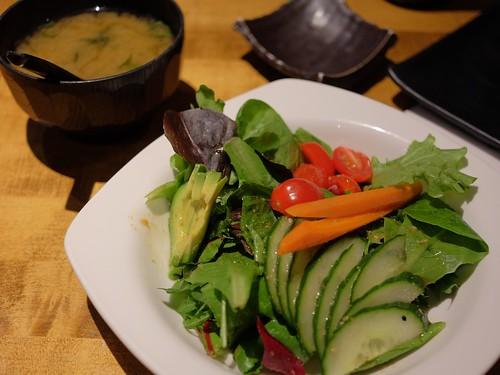 miso soup & greens