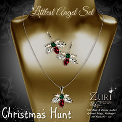 Zuri Jewelry - Littlest Angel Set EmeraldGarnet Christmas Hunt