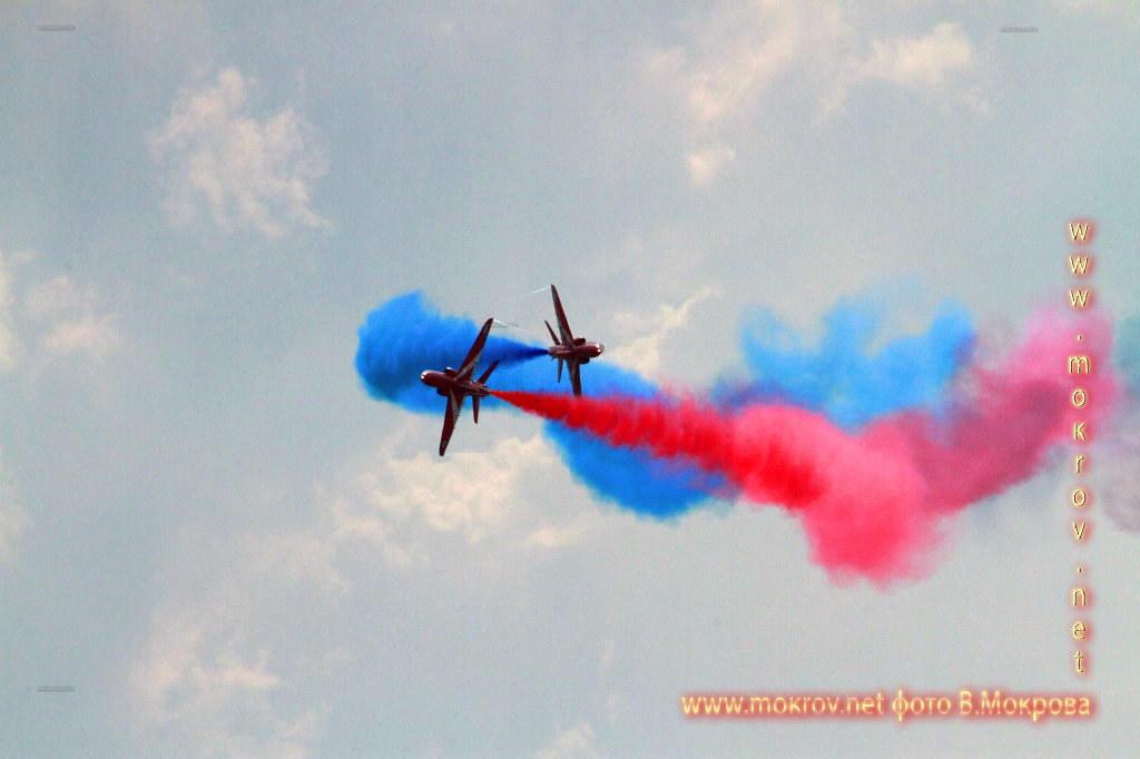 Групповой пилотаж 2х Т Хок Красные стрелы, Великобритания.