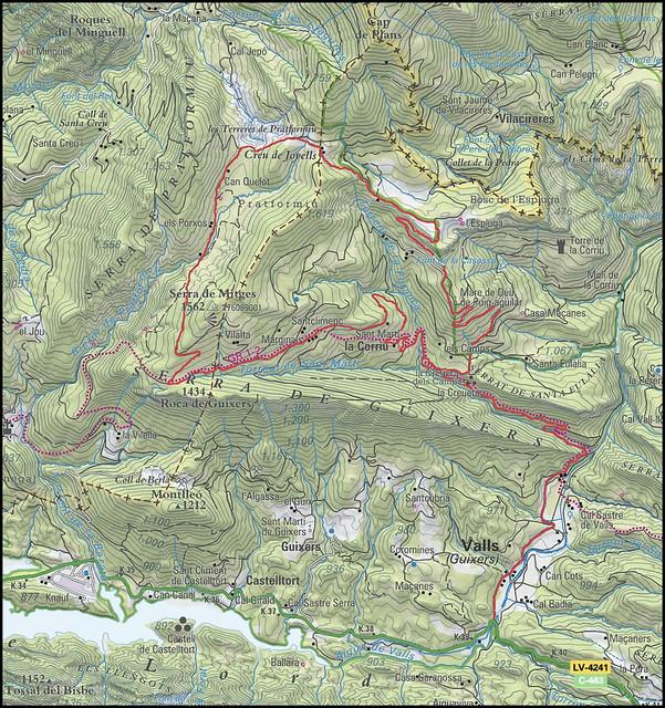 Excursion Serra de La Corriu - Plans de Platformiu