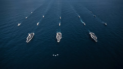 Three carrier exercise in the Western Pacific