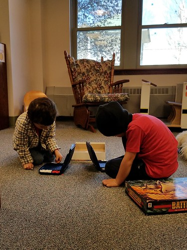 battleship at the library