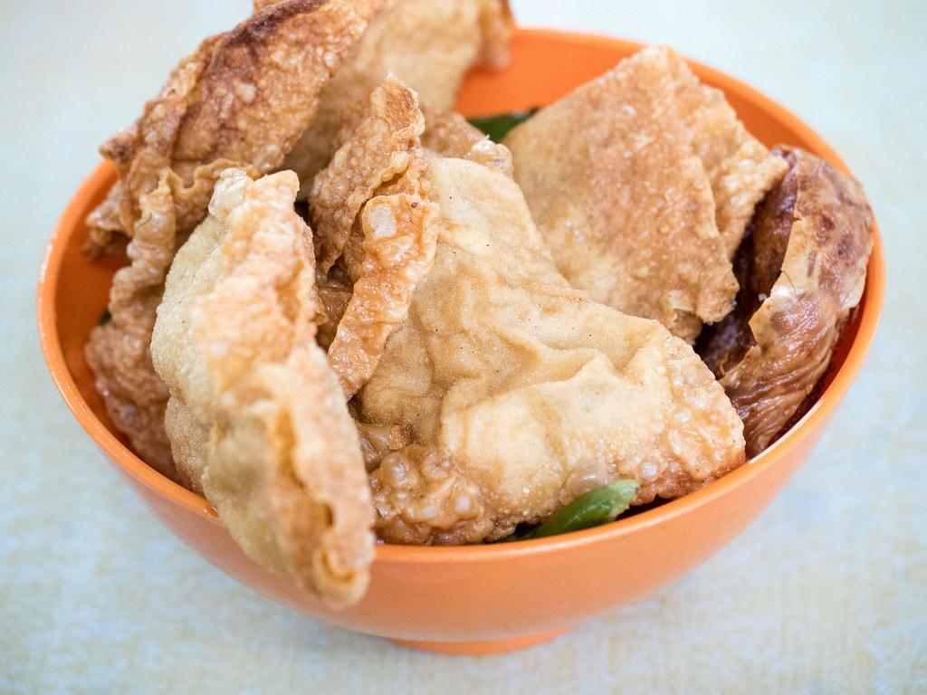 Fried Fu Chuk (bean curd sheet) and Fried Sui Kow (Dumpling) at Dai Shu Geok (Big Tree Foot)