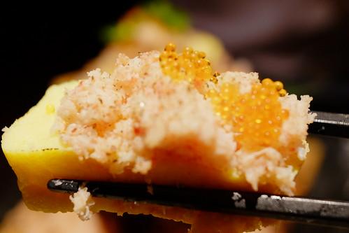 蟹ぶっかけ出汁巻き卵