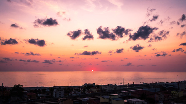 Paola at sunset - Calabria, Italy - Travel photography