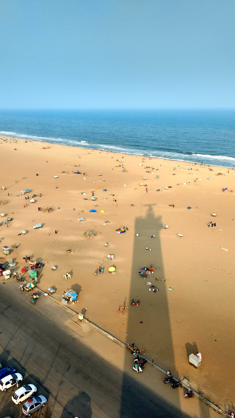 Marina Beach from the lighthouse