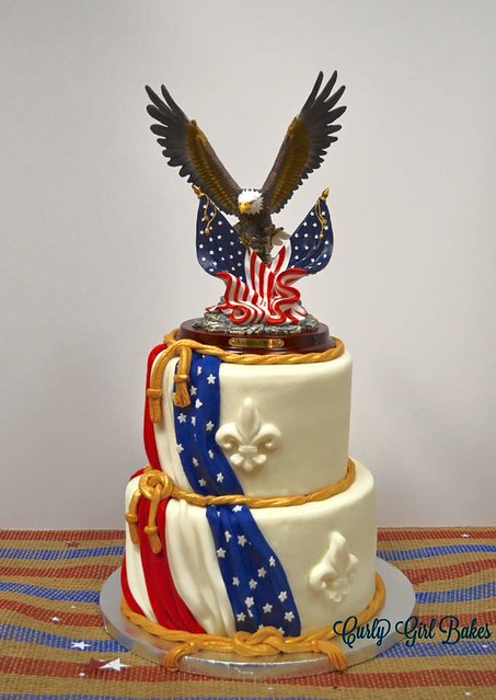 Eagle Scout Cake by Curly Girl Bakes