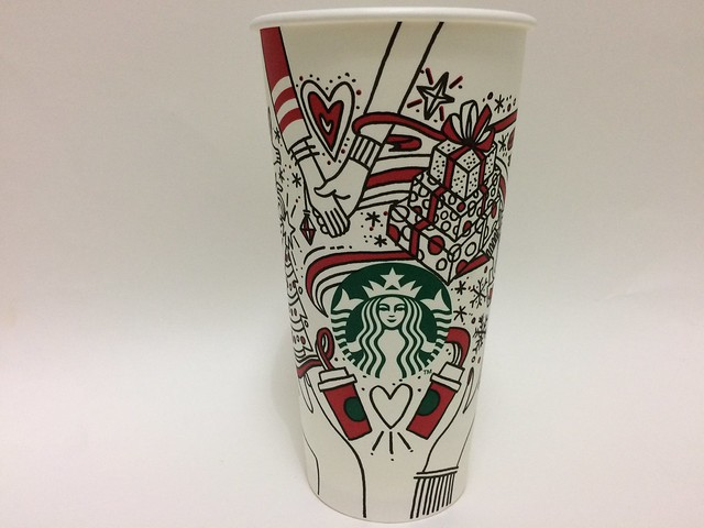 Starbucks Taiwan 星巴克 red cup add own color in