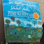 IS 52 Junior High School Student Garden Poster, Inwood, New York City