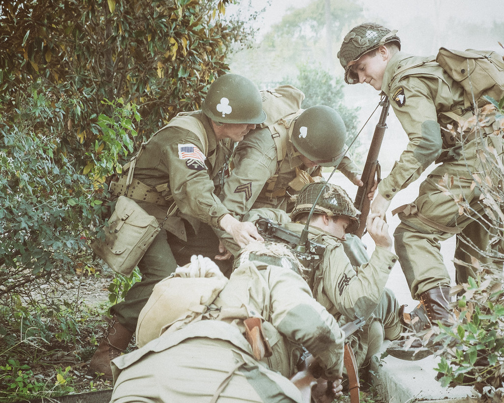 WWII Weekend in Waxahachie - Tending to the injured (Color