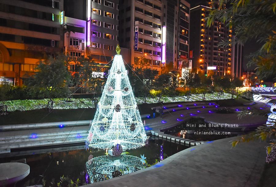 柳川藍帶水岸.聖誕節.台中景點07