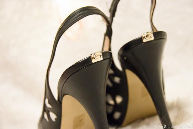 Kenkien yksityiskohta takana slingback malli