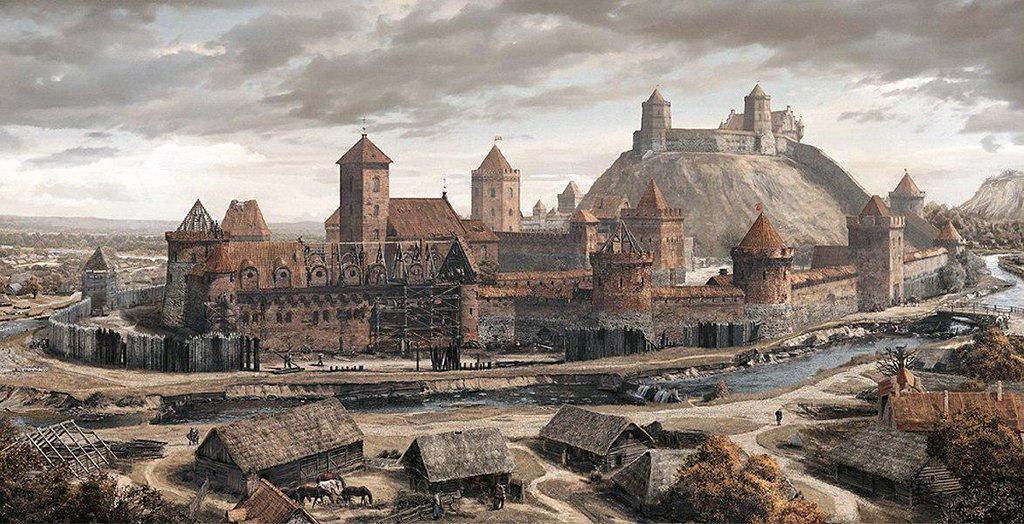 Верхний и Нижний замки в Вильнюсе, начало 15 века.