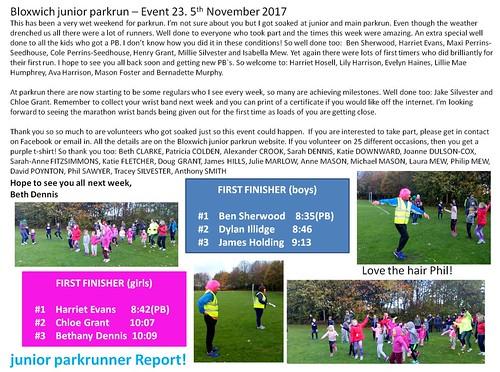 junior parkrunner report #23