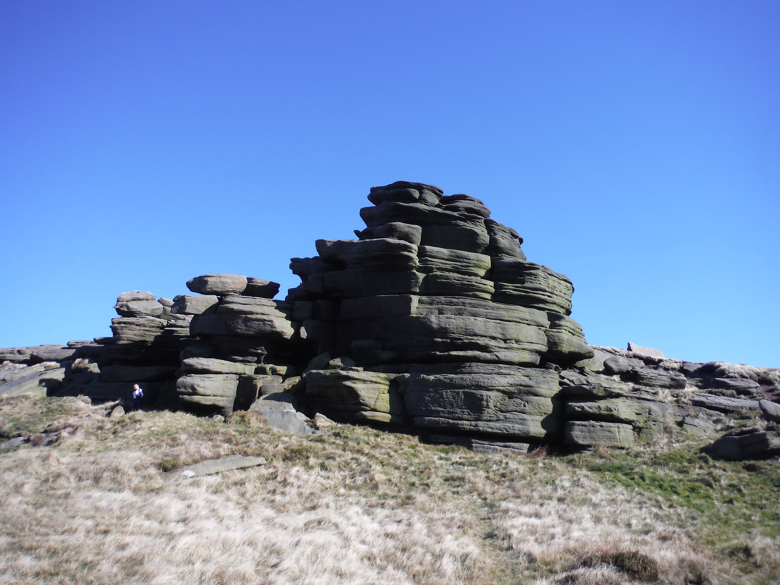 Pym Chair Rock Formation SWC Walk 304 - Kinder Scout Circuit (from Edale)