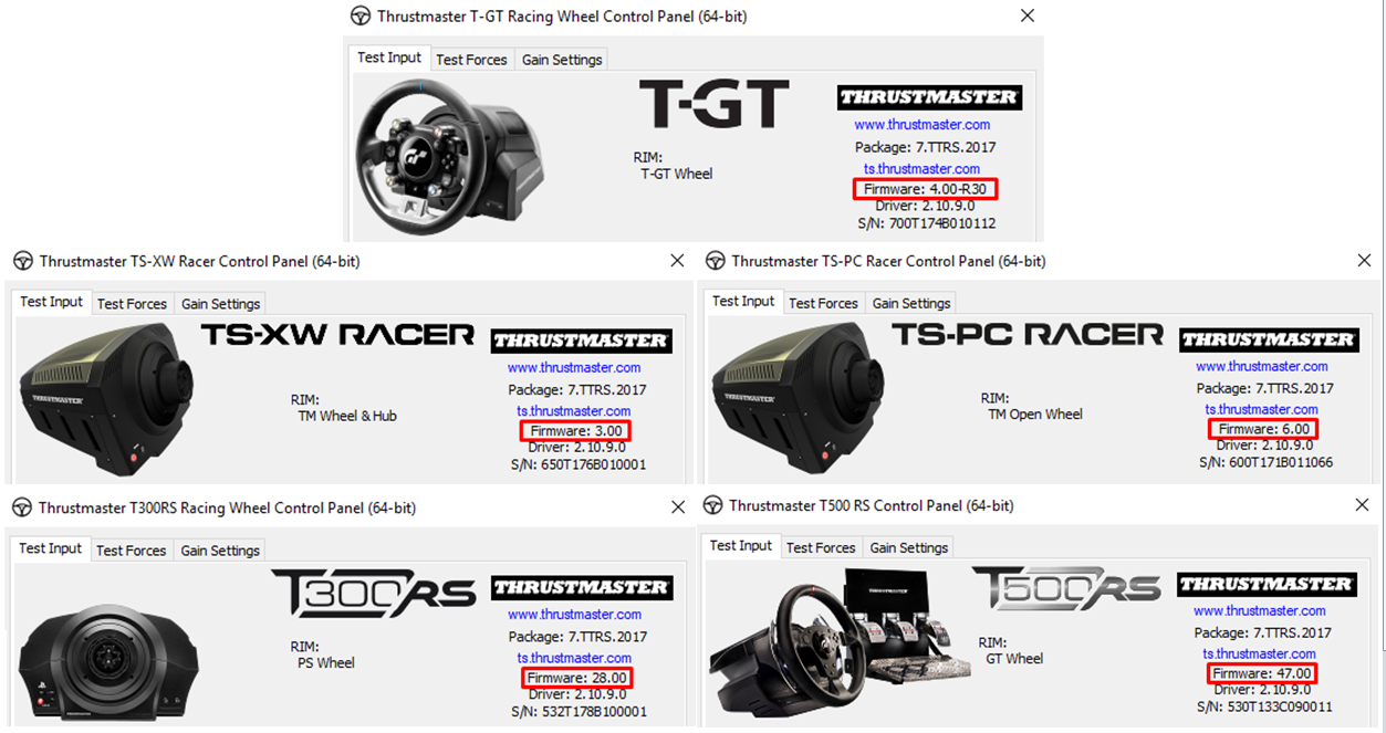 Thrustmaster Firmware Updates Dec 2017