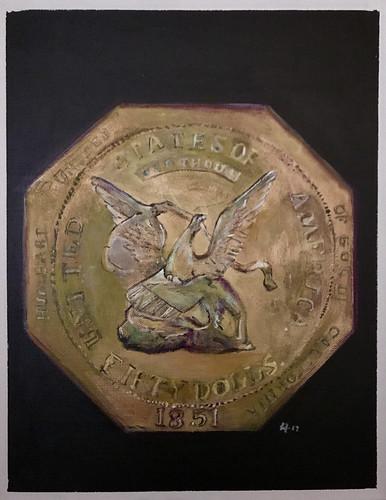 Leif Larson $50slug painting
