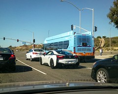 BMW i8 on Pacific Coast Highway in Newport Beach