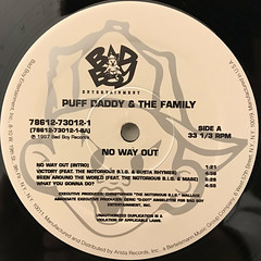 PUFF DADDY & THE FAMILY:NO WAY OUT(LABEL SIDE-A)