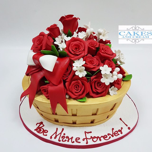 Basket of Roses Cake by Cakes and Cream