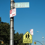 W 201 ST Street Sign, Inwood, New York City