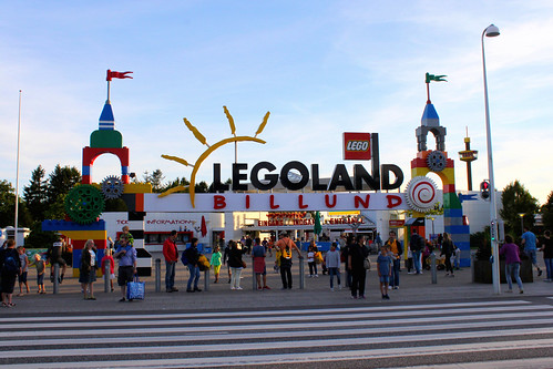 Legoland Billund sign at entrance