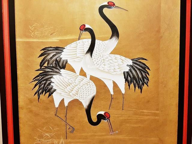 Artwork Black-Necked Cranes