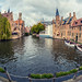 Bruges (Venice of the North) (Belgium) (Cross Process Effect) (Olympus OM-D EM1-II & M.Zuiko 8mm f1.8 Fisheye Prime) by markdbaynham