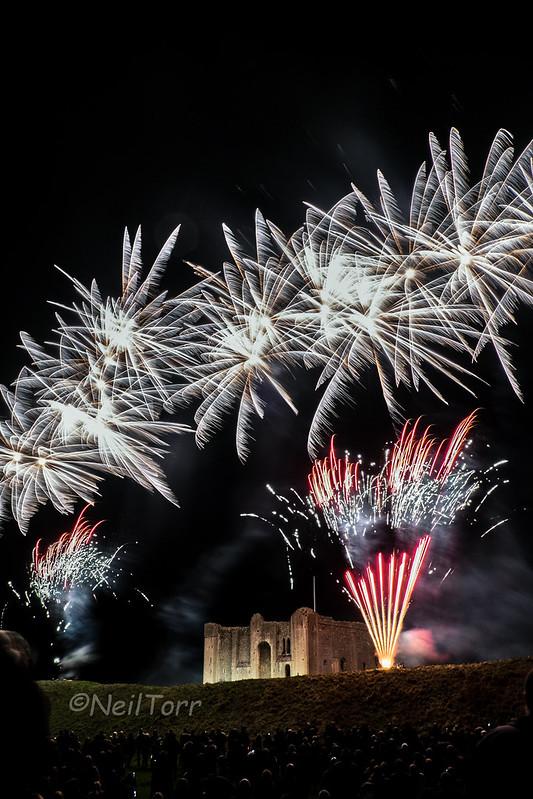 Castle Rising Fireworks 1